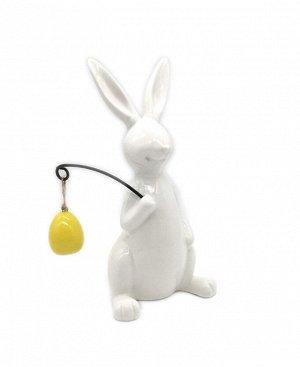 Декор Кролик с мешочком 9,3*7,3*18,4см керамика 2005016249311
