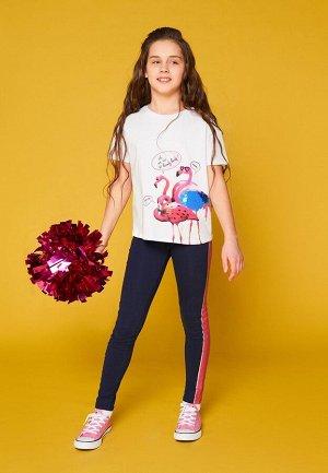 Футболка(Фуфайка) детская для девочек белая