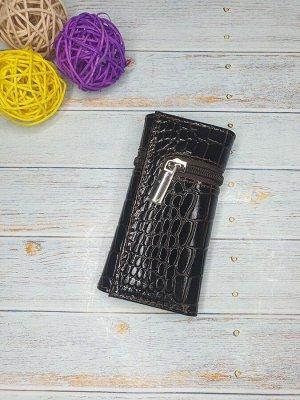 Ключница Ключница. Натуральная Кожа. Цвет коричневый.  6,5x12,5 см