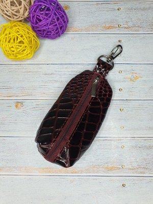 Ключница Ключница. Натуральная Кожа. Цвет бордо. 13x7,5 см.