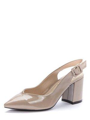 917004/04-04 бежевый иск.кожа лак женские туфли открытые (В-Л 2021)