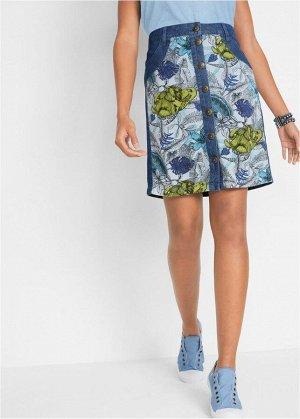 Джинсовая юбка летняя немецкой марки john baner
