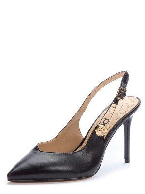 917023/05-02 черный иск.кожа женские туфли открытые (В-Л 2021)