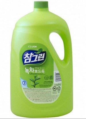"""LION Средство для мытья посуды, овощей и фруктов """"CHAMGREEN"""" Зеленый чай, флакон, 3830 мл"""