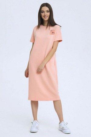 Платье LaVeLa L10186 персиковый