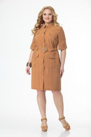 Платье Anelli 657 оранжевый