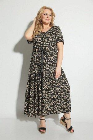 Платье Michel chic 2053 черный_принт