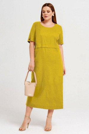 Платье Prio 44983z горчичный