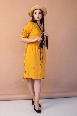 Платье Angelina 547 горчица