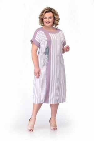 Платье Мишель стиль 867/1 бело-сиреневый