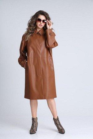 Плащ SandyNa 13940 коричневый