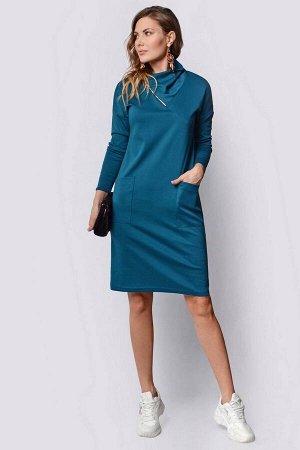 Платье PATRICIA by La Cafe F14961 морская-волна