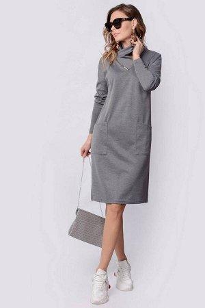 Платье PATRICIA by La Cafe F14961 серый-меланж
