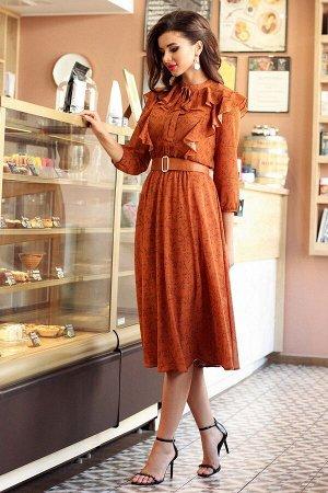 Платье Мода Юрс 2554 терракот