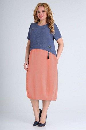 Платье ELGA 01-701 коралл
