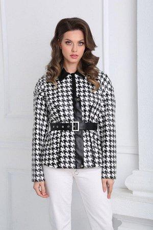 Куртка SandyNa 13942 черно-белый