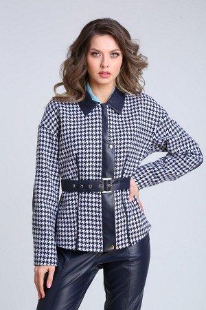 Куртка SandyNa 13942 сине-белый