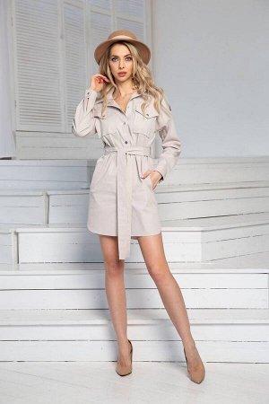 Платье DoMira 01-594 светло-бежевый