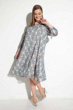 Платье Michel chic 2049 бежевый+голубой