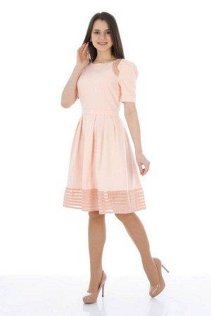 Платье Almila-Lux 1047 персиковый