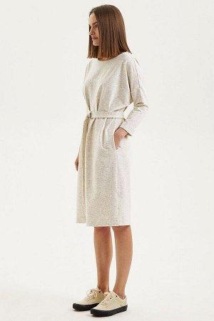 Платье Moveri by Larisa Balunova M5069D молочный-меланжевый