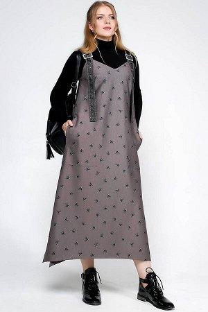 Платье La rouge 5289 капучино-(птички)