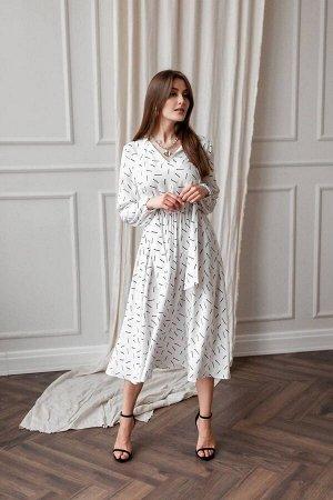 Платье KRASA 163-21 белый