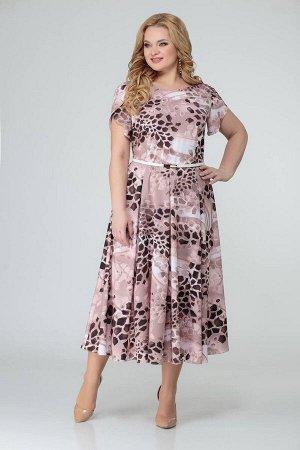 Платье Swallow 363 бежевый/принт