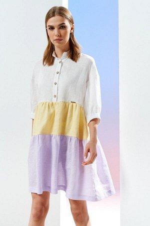Платье Prestige 3902 желто-сиреневый