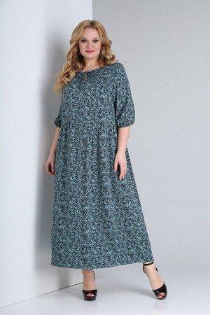 Платье Ксения Стиль 1875 бирюза