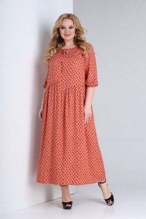 Платье Ксения Стиль 1875 коралл