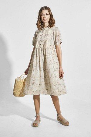 Платье ELLETTO LIFE 1832 бежевый