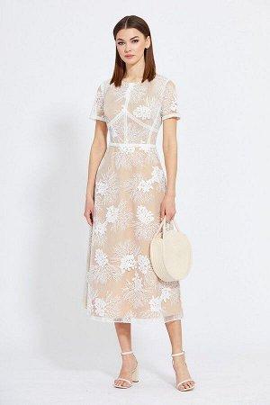 Платье EOLA 2015 бежевый-вышивка