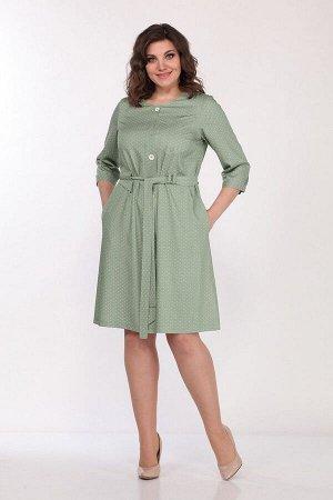 Платье Lady Style Classic 2049 хаки+горох