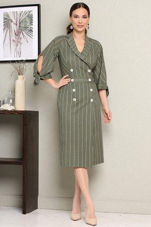 Платье, ремень Мода Юрс 2650 зеленый