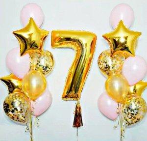 """Набор воздушных шаров с цифрой """"7"""""""
