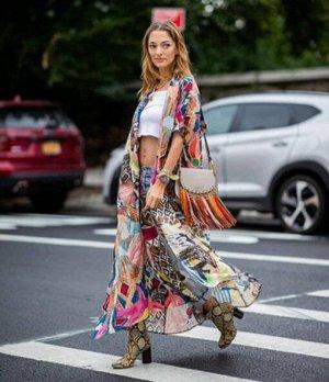 Женская накидка с принтом, разноцветная