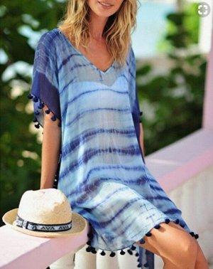 Женское платье, цвет синий