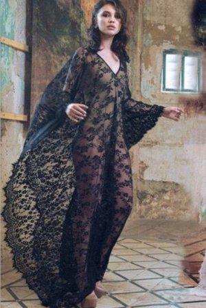 Женское кружевное платье, цвет черный