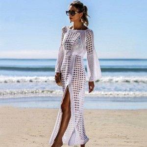 Женское кружевное платье, цвет белый