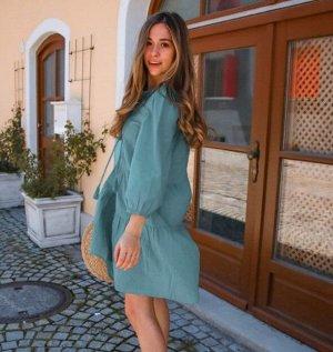 Женское платье, цвет серо-синий