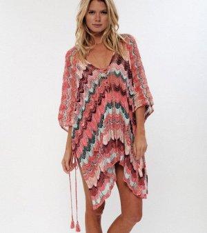 Женское платье, цвет розовый