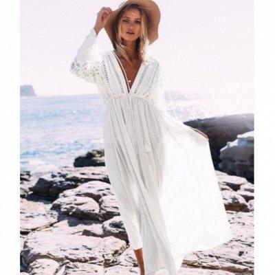 ⛱В новый сезон в новом купальнике! + Обувь, накидки, сумки — Длинные пляжные платья с длинным рукавом
