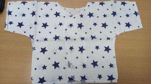 Распашонка Распашонка короткий рукав Ткань ситец