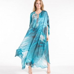 """Женское платье, принт """"море"""", цвет синий"""