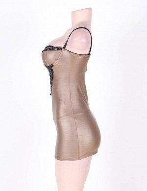 Светло-коричневая кожаная сорочка на косточке