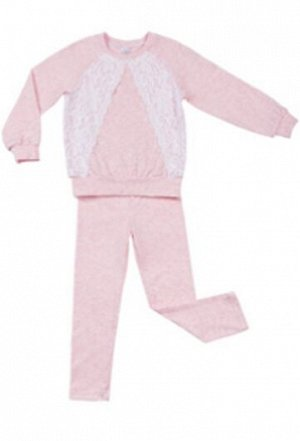 Костюм лосины и свитшот розовый меланж