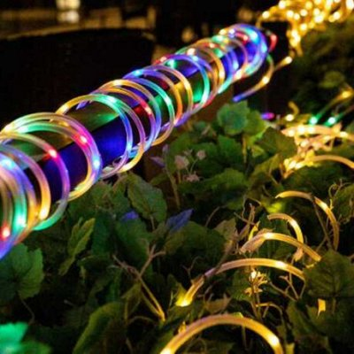Садовые гирлянды на солнечной батарее! Невероятно красиво⭐  — Капельки  в силиконовой трубке! Солнечная гирлянда — Садовое освещение