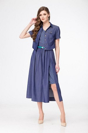 Жакет, платье LadyThreeStars 1774 синий