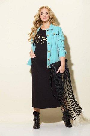 Куртка, платье Liliana 928N ментол+черный